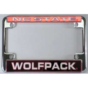 North Carolina NC State Wolfpack Chrome Motorcycle RV License Plate
