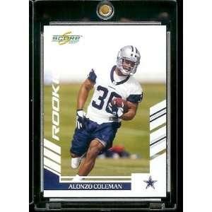 2007 Score # 321 Alonzo Coleman   Dallas Cowboys   NFL Football