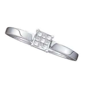 Princess Cut Diamonds 14K White Gold Wedding Engagement Band Ring