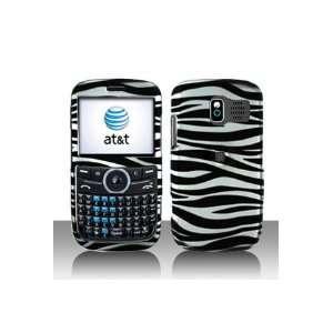 Pantech P7040 Link Graphic Case   Silver/Black Zebra Cover