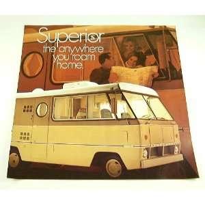 1970 70 SUPERIOR COACH Motorhome RV BROCHURE: Everything