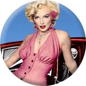 Monroe   Pink Dress 1.5 Pinback Button