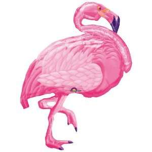 XL 27 Pink Flamingo Super Shape Mylar Foil Balloon Hawaiian Luau