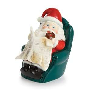 Holiday Greetings Porcelain Santas Day Off Figurine