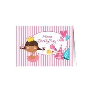 Funny Princess Birthday Party Invitation Card Toys