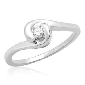 10k White Gold Diamond Promise Ring (1/6 cttw, I J Color, I3 Clarity