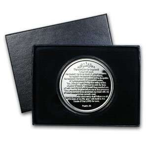 1 oz 23rd Psalm Silver Round (w/Gift Box & Capsule