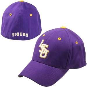 Top of the World LSU Tigers Purple Youth 1Fit Hat  Sports