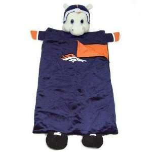 Denver Broncos NFL Plush Team Mascot Sleeping Bag (72