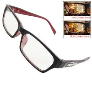 Red Plastic Multi coated Lens Plano Glasses Health & Personal Care