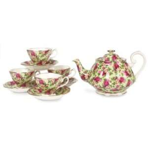 Royal Doulton Old Country Roses Chintz 9 Piece Tea Set