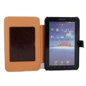 Leather Case Cover for Samsung Galaxy Tab P1000 Brown Electronics