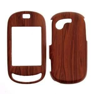 Samsung T669/Gravity T   Wood Grain Rubberized Design   Faceplate
