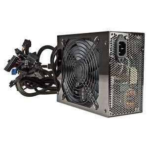 ATX Power Supply w/SATA, PCI E & Six 12V Rails (Black) Electronics