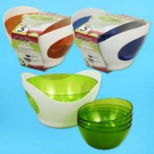 Salad Bowl Set 5 Piece Picnic Time Serving Case Pack 6