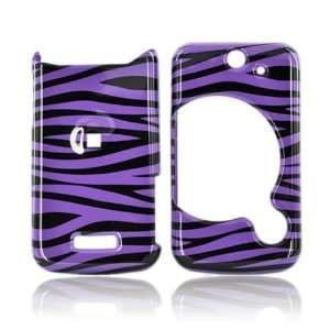 for Sony Ericsson Equinox Hard Case PURPLE BLACK ZEBRA