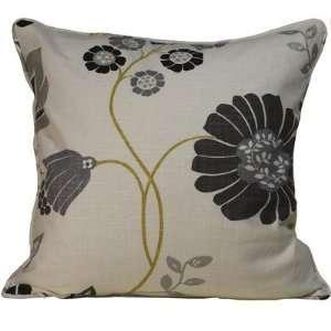 Flower Vine Linen Square Decorative Pillow