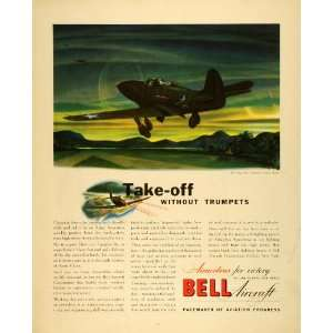 1942 Ad Bell Aircraft Military WWII Fighter Jets Bomber