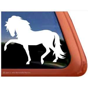 Andalusian Horse Trailer Vinyl Window Decal Sticker