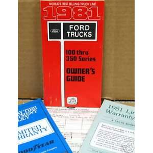 1981 Ford F Series 150 350 Owners Kit: Everything Else