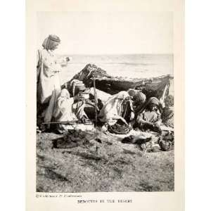 1924 Print Bedouin Arab Nomad Camp Costume Turban Desert