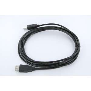 10 Foot USB 2.0 Type B Male   Type A Female   Black Adapter/Converter