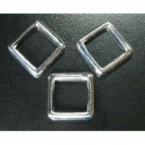 Bead Frame, 12x12mm Antique Silver Lead Free Pewter   1 bead: Arts