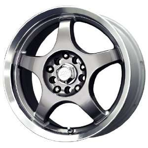 MB Wheels Five X Silver Machined Wheel (15x6.5/4x100mm