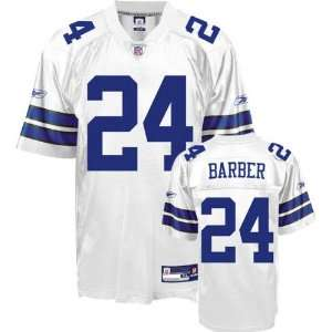 Marion Barber #24 Dallas Cowboys Replica NFL Jersey White Size 52 (XL)
