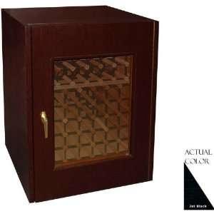 114g b 80 Bottle Wine Cellar   Glass Doors / Black Cabinet Appliances