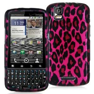 DROID PRO A957 PINK BLACK LEOPARD CASE Cell Phones & Accessories