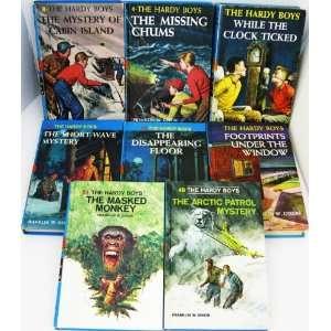 Set of 8 Vintage Hardy Boy Novels   1960s Copies
