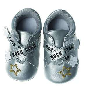 Silly Souls SH RS 1 Rock Star Shoe  6 12 Months  Silver