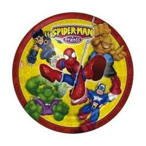 Spider Man and Friends 9 Dinner Plates   8 Count Toys