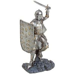 Knight in Armor Statue   Wielding Sword in Battle Ready