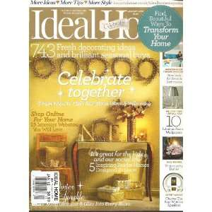 Ideal Home Magazine (Celebrate Together, January 2012): Various: Books