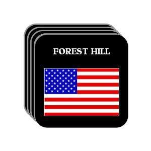 US Flag   Forest Hill, Texas (TX) Set of 4 Mini Mousepad