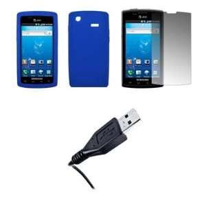 Samsung Captivate i897   Premium Blue Soft Silicone Gel