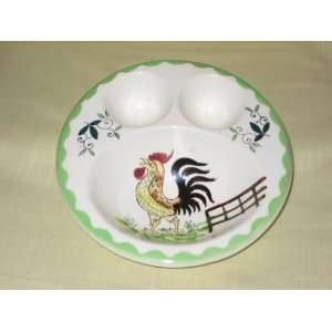 Rooster  Double Poached / Soft Boiled Egg Cup Dish Everything Else