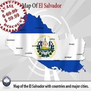 Editable El Salvador Powerpoint Map   El Salvador Powerpoint Template