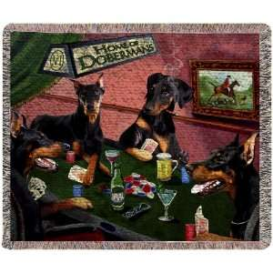 Throw Blanket 50 x 60 4 Dogs Playing Poker:  Home & Kitchen
