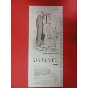 Botany Slacks, 1950 Print Ad (woman/man/shell look up to