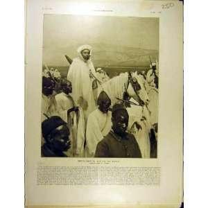 1911 Moulai Hafid Sultan Maroc Horse French Print: Home & Kitchen