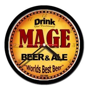 MAGE beer and ale cerveza wall clock: Everything Else