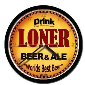 LONER beer and ale cerveza wall clock: Everything Else