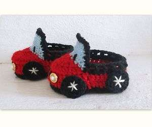 PATTERN Car Baby/Toddler Booties, 4 sizes 0 12 month/1 3 years