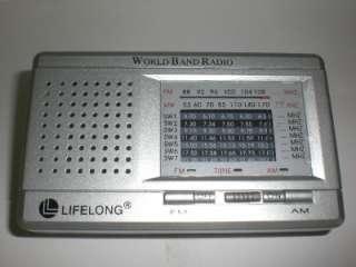 LifeLong/Life Long World Band FM/AM Short Wave Portable Radio New in