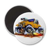 Jeep Orange Refrigerator Magnet by maddmaxart