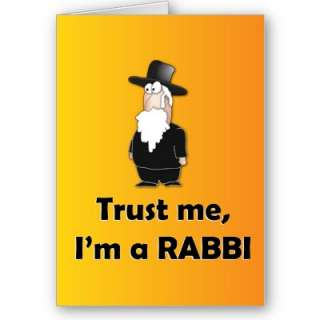 Trust me Im a rabbi   Funny jewish humor Card from Zazzle