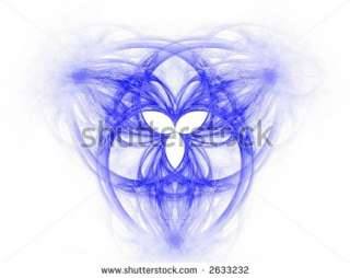 stock photo : High res flame fractal forming the celtic symbol of the